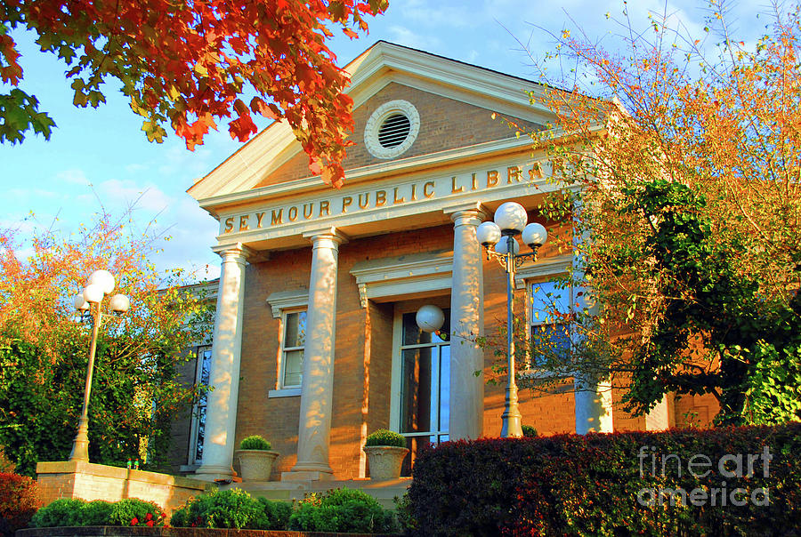 Seymour Photograph - Seymour Public Library by Jost Houk