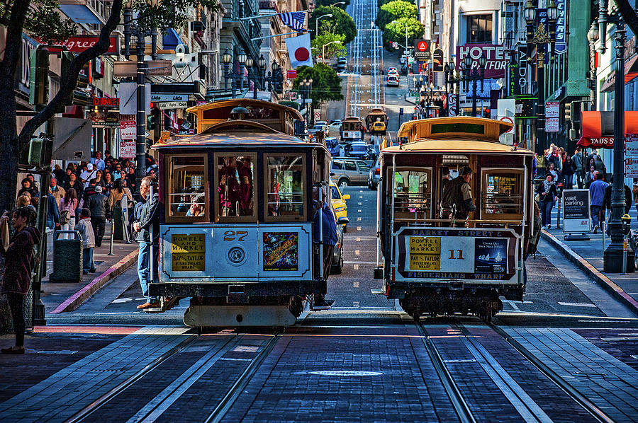 Sf Cable Cars Photograph
