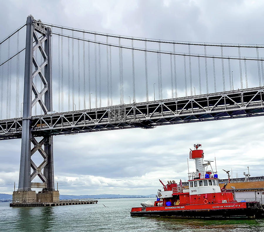 San Francisco Fire Department Barge Photograph