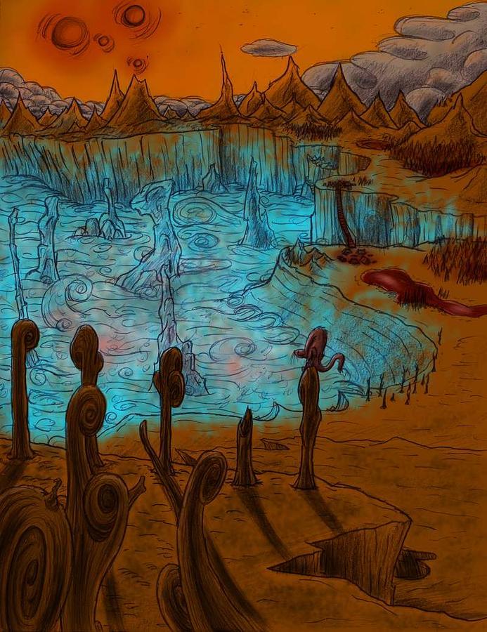 Glowing Digital Art - Sg Ash Basin by Grymm Grymmowski