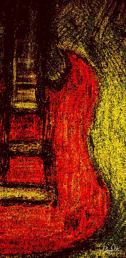 Guitar Painting - SG by Chrisy West