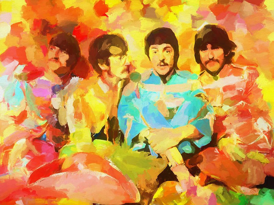 The Beatles Painting - Sgt. Peppers Lonely Hearts by Dan Sproul