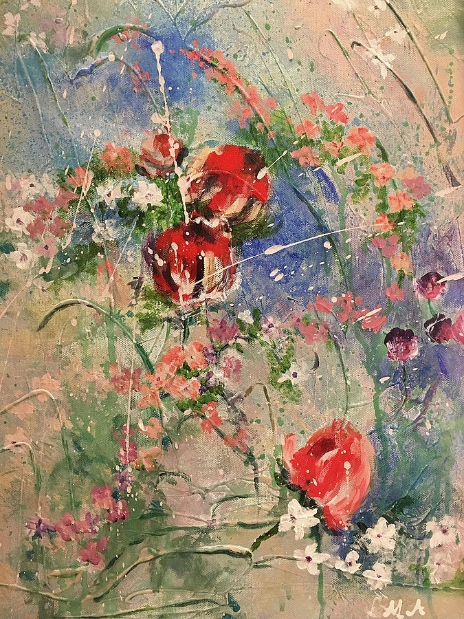 Flowers Painting - Shabby Chic #2 by Lynne Atwood