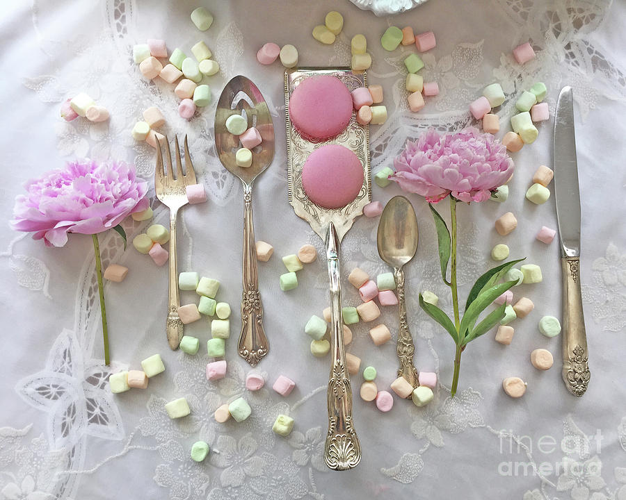 Shabby Chic Pink Peonies Vintage Spoon Art Photograph - Shabby Chic ...