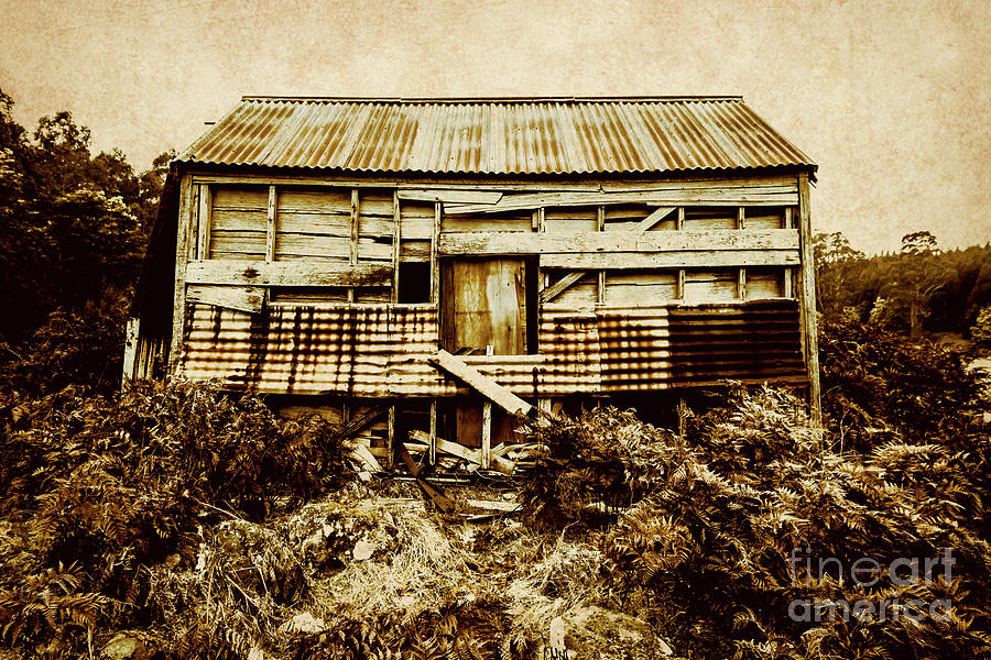 Rustic Photograph - Shabby Country Cottage by Jorgo Photography - Wall Art Gallery