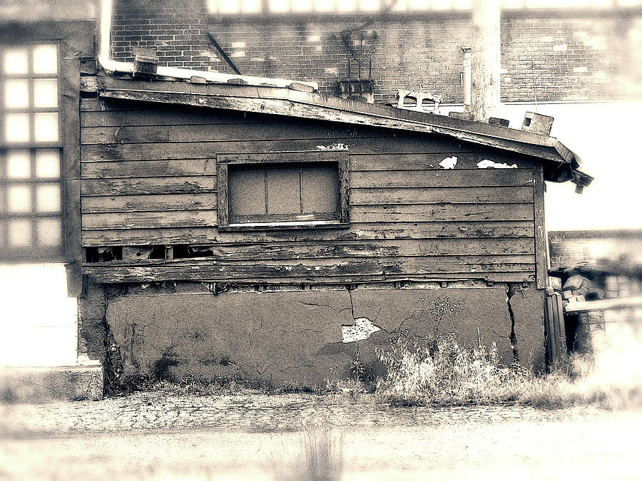 Shack Photograph - Shabby Shack By The Tracks by Phil Perkins