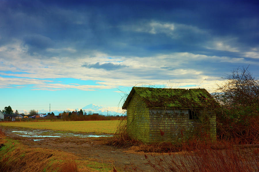Shack Photograph - Shack And Moody Skies by Paul Kloschinsky