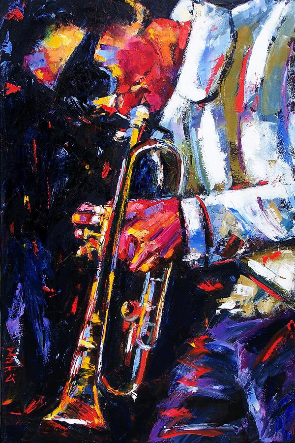 Miles Davis Painting - Shades by Debra Hurd