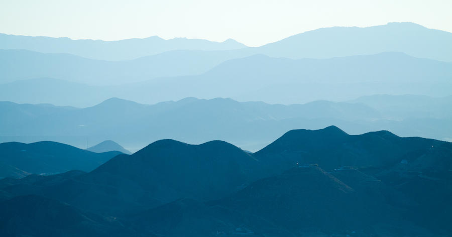 Overlook Photograph - Shades Of Blue by Nathaniel Kidd