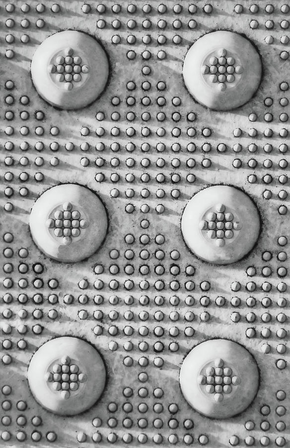 Industrial Photograph - Shades Of Gray Dots Portrait Edition by Tony Grider