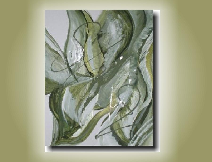 Contemporary Painting - Shades Of Green by Laura Sherrill