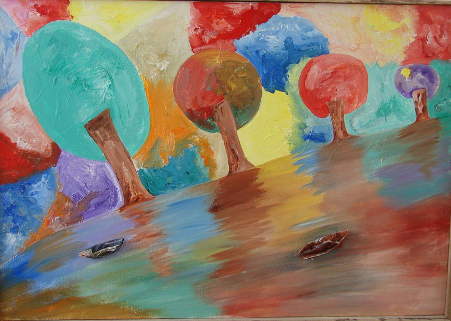 Mystic Nature Painting - Shades Of Illusive Nature  by Aim to be Aimless