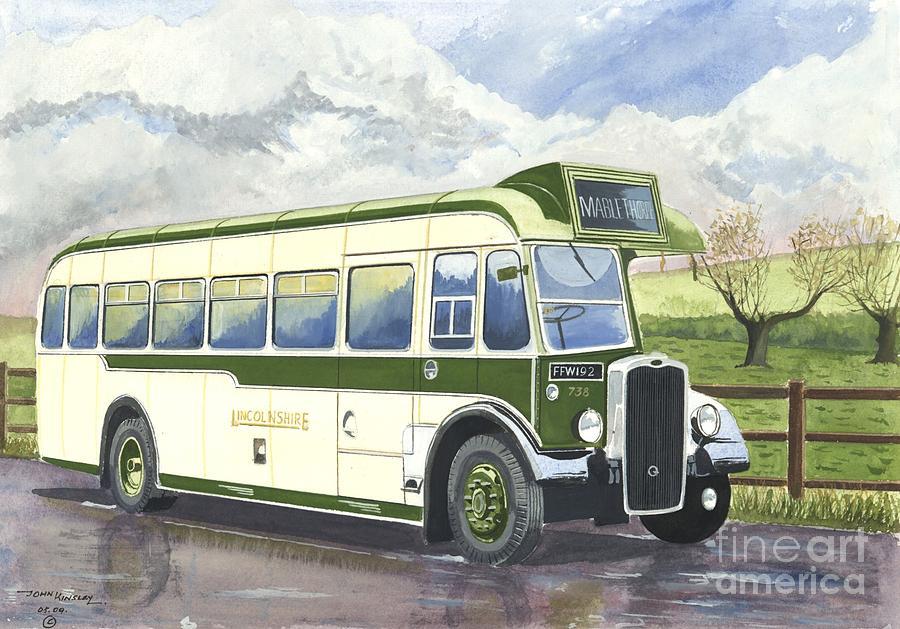 Transportation Painting - Shades Of Lincoln Green by John Kinsley