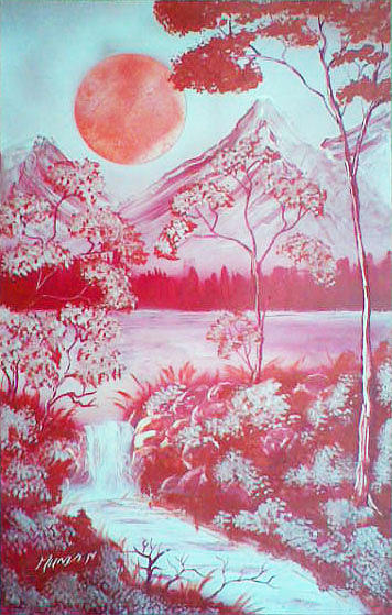 Landscape Painting - Shades Of Red by Jonathan Munden