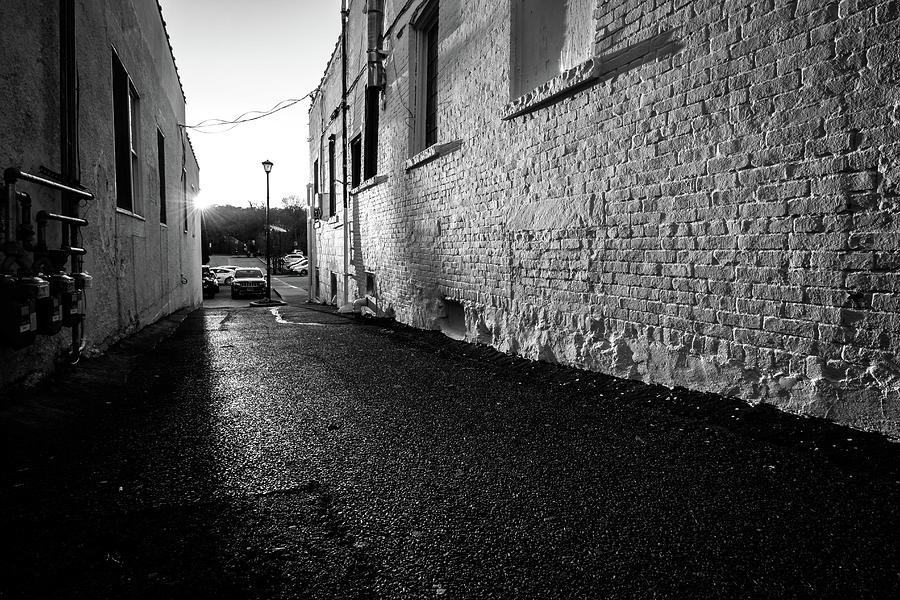 Alley Photograph - Shadow Alley by Roderick Breem