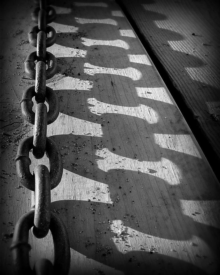 Chain Photograph - Shadow Chain by Perry Webster