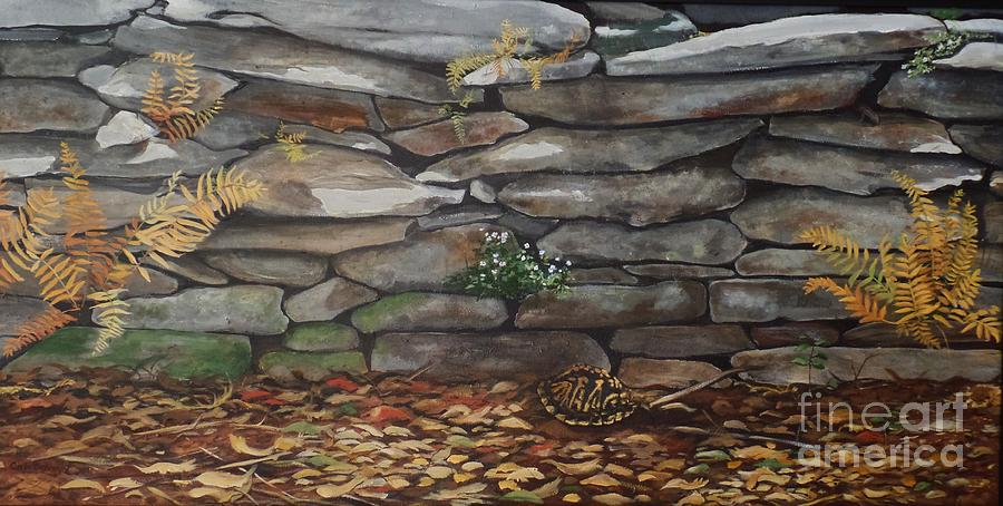 Box Turtle Painting - Shadow Dwellers by Carla Dabney