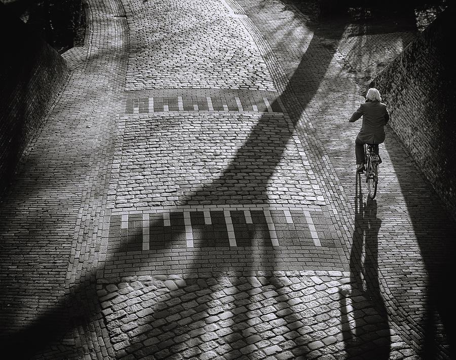 Street Photograph - Shadow by Henk Van Maastricht