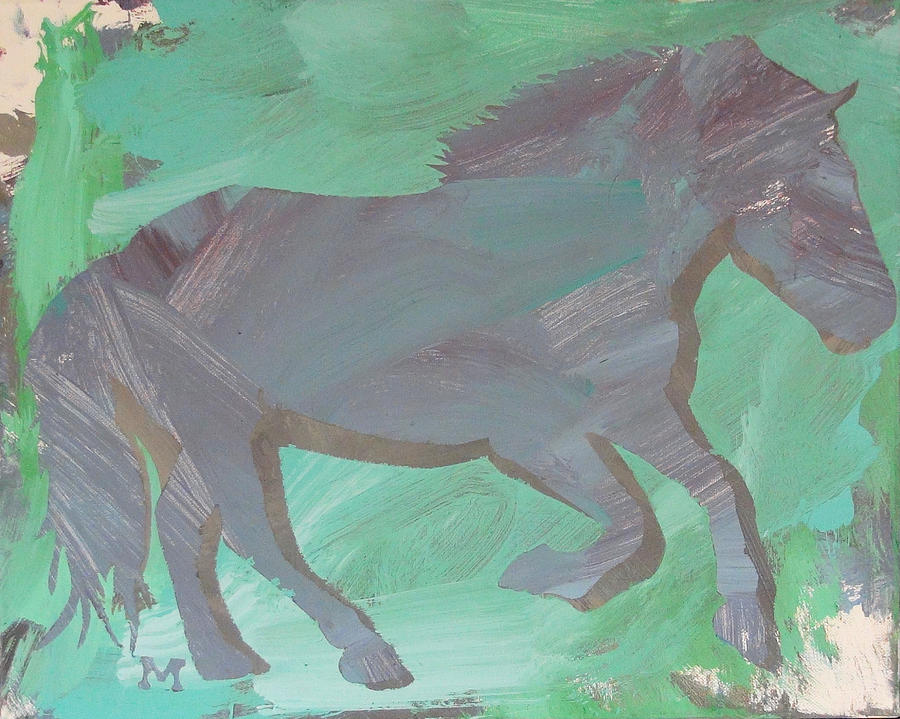 Horse Painting - Shadow Horse by Candace Shrope