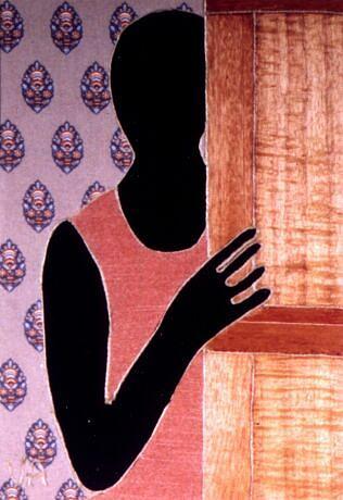 Figure Painting - Shadow In Doorway by Valerie X Armstrong