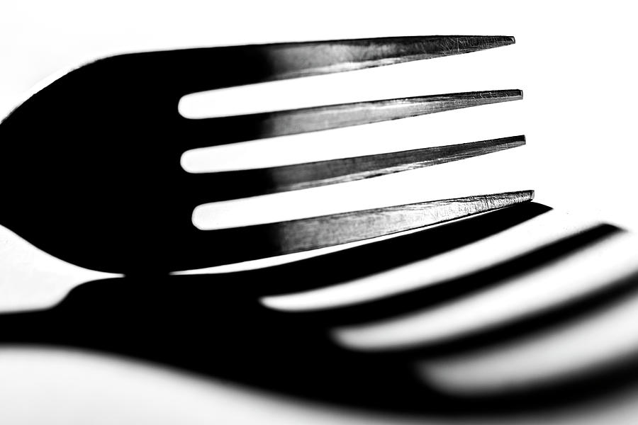 Shadow Photograph - Shadow Of Fork by Lonnie Paulson