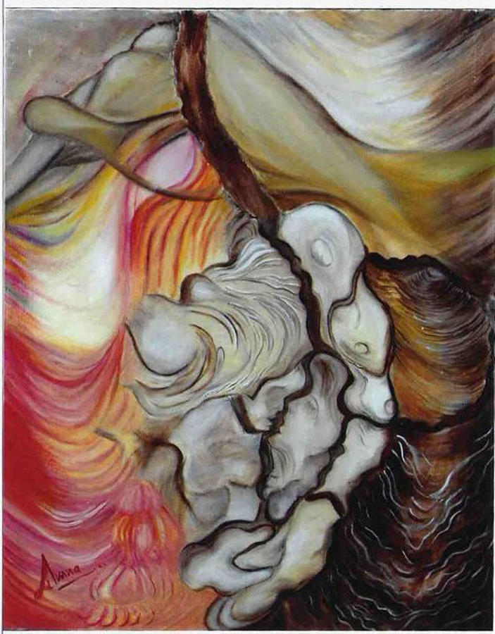 Painting Painting - Shadow Of Love by Amna Zafar