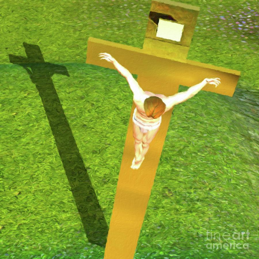 Temple Painting - Shadow Of The Christ by Pierre Blanchard