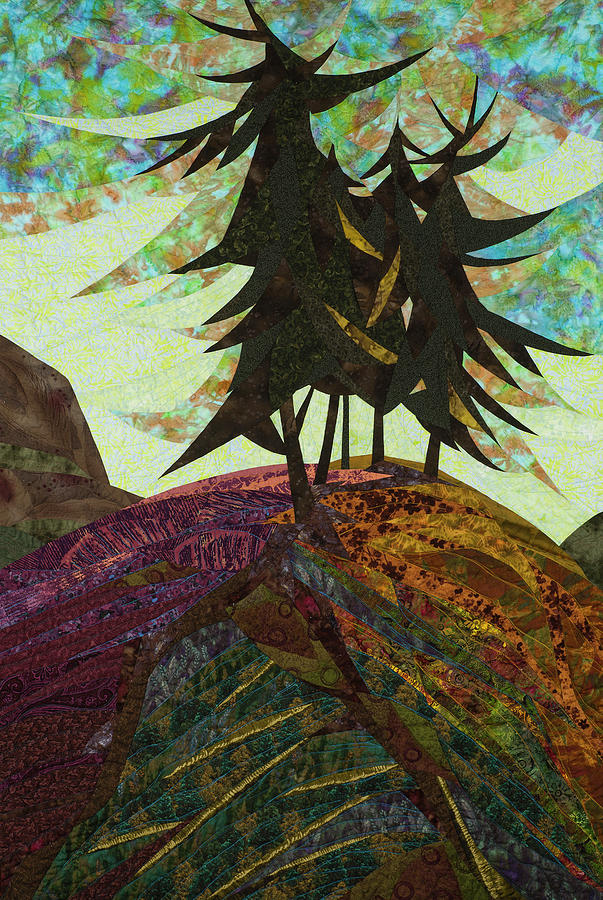 Tree Tapestry - Textile - Shadow Of The Evening by Linda Beach