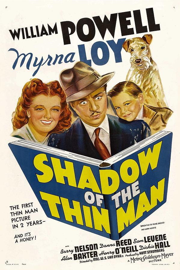 1940s Movies Photograph - Shadow Of The Thin Man, Myrna Loy by Everett
