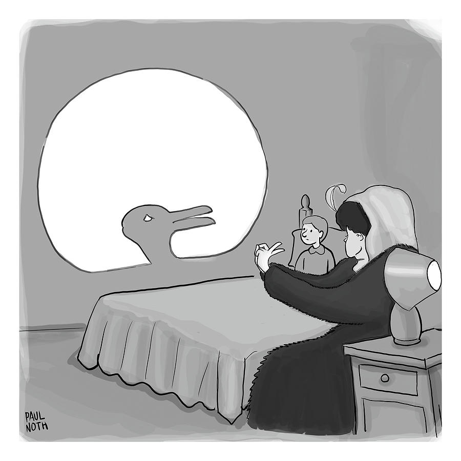 Shadow Puppet Drawing by Paul Noth