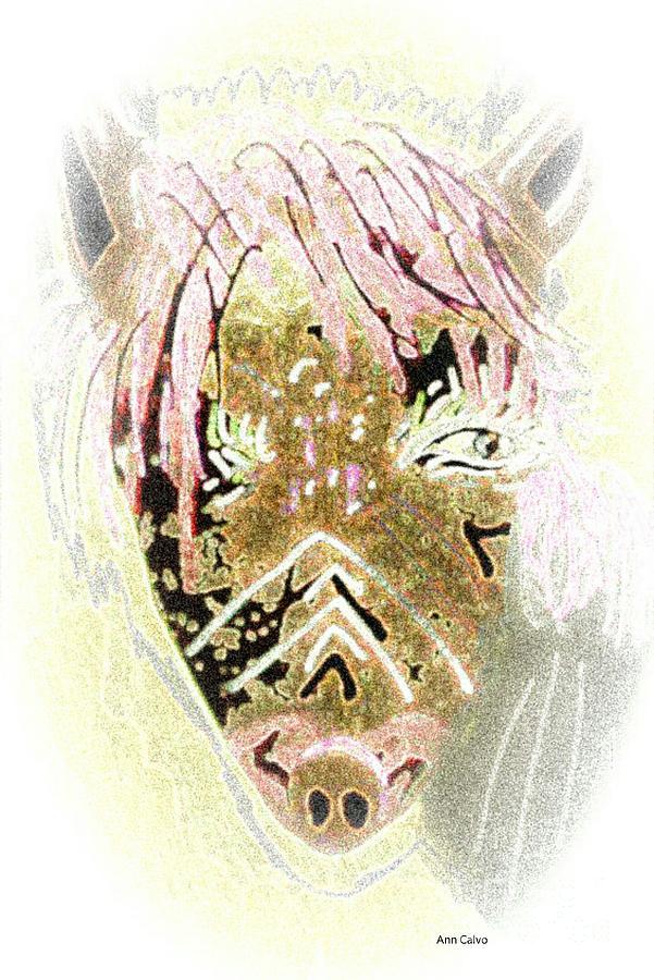 Mule Mixed Media - Shadow by Ann Calvo