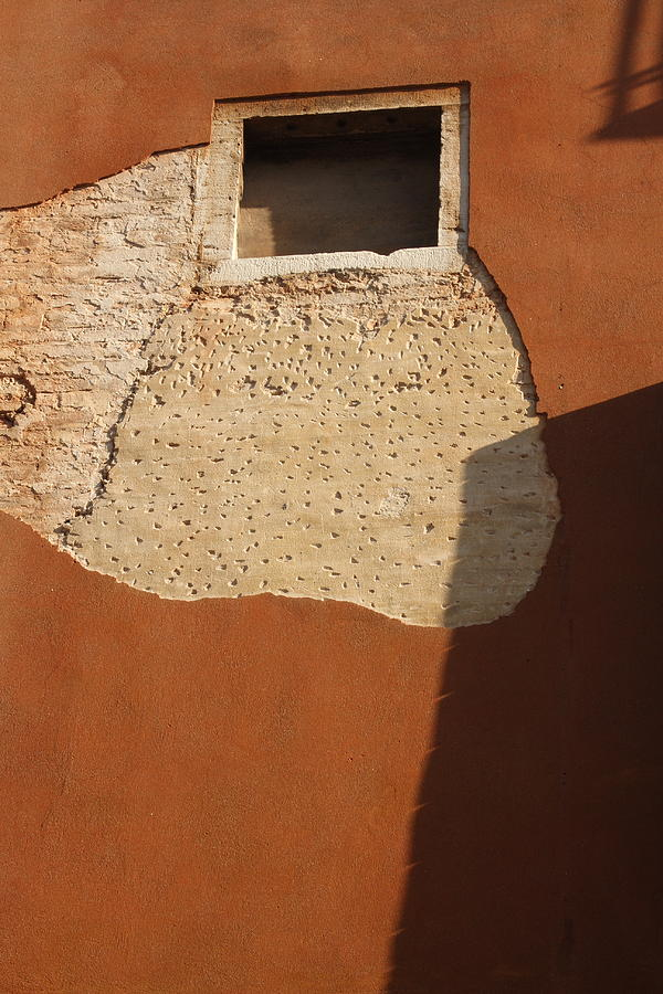 Venice Photograph - Shadow With Square Window In Venice by Michael Henderson