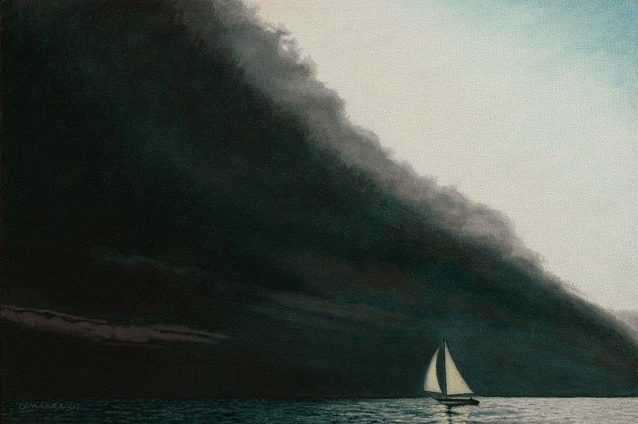 Sailing Painting - Shadow Work by Allan OMarra