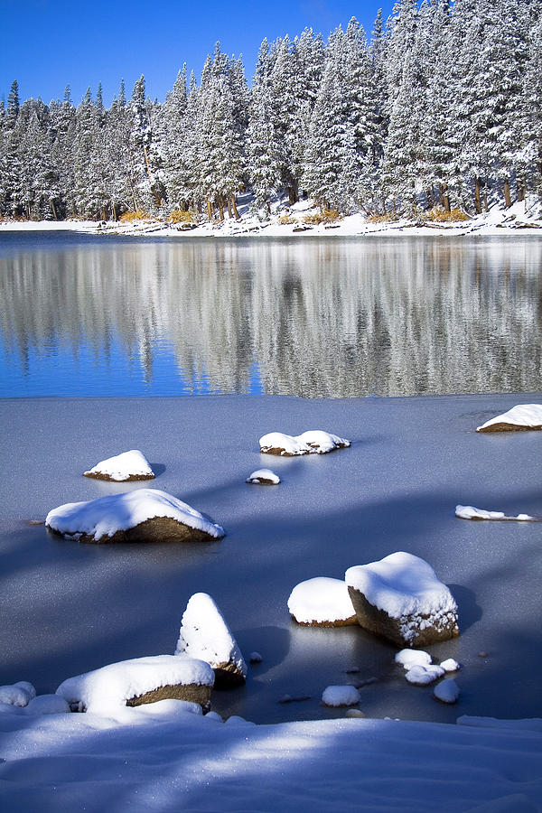 First Snow Photograph - Shadowed Coolness by Chris Brannen