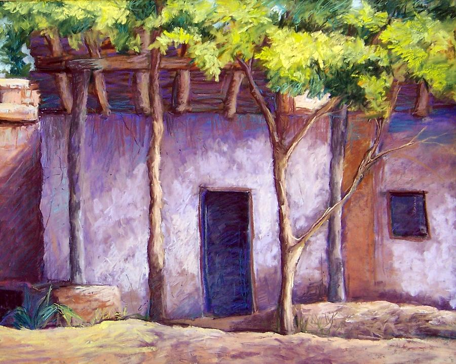 Landscape Pastel - Shadowed Ruins by Candy Mayer
