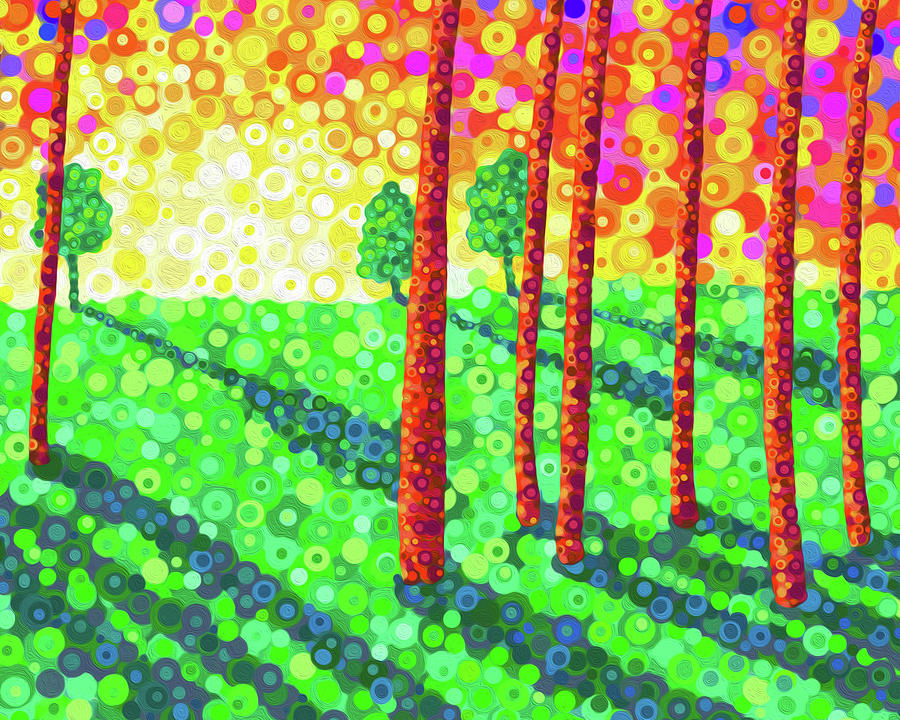 Trees Digital Art - Shadowlands by Jennifer Allison