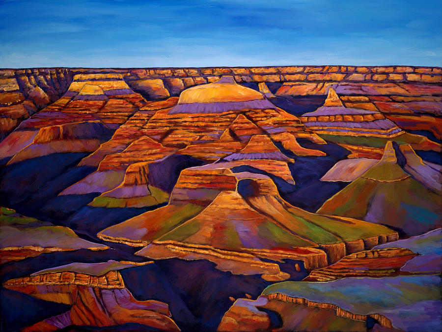 Grand Canyon Painting - Shadows And Breezes by Johnathan Harris