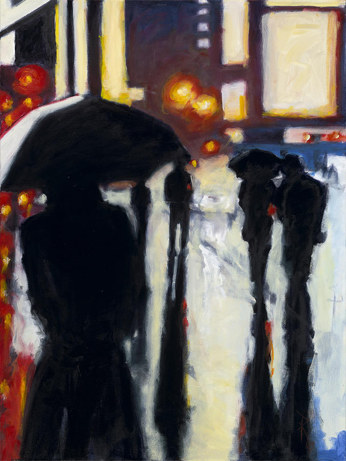 Rob Reeves Painting - Shadows In The Rain by Robert Reeves