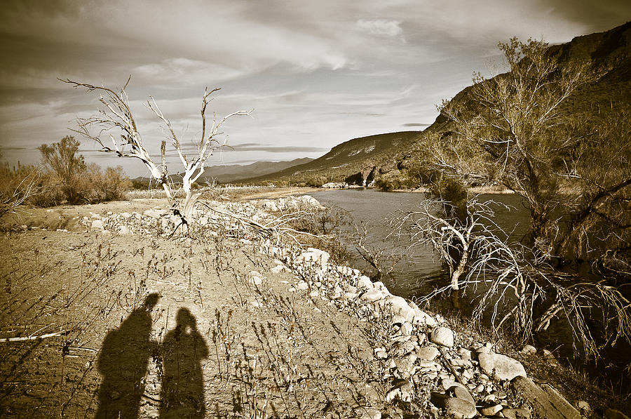 Desert Photograph - Shadows Lurking by Keith Sanders