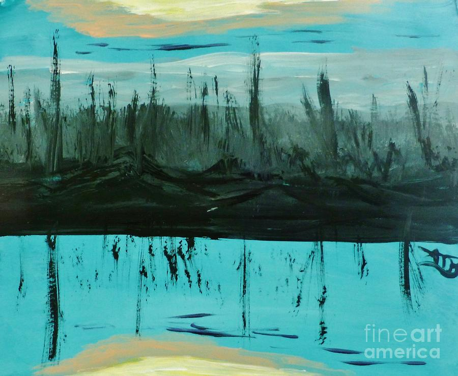 Abstract Painting - Shadows by Marie Bulger