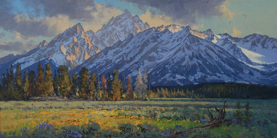 Landscape Painting - Shadows Of Evening by Lanny Grant