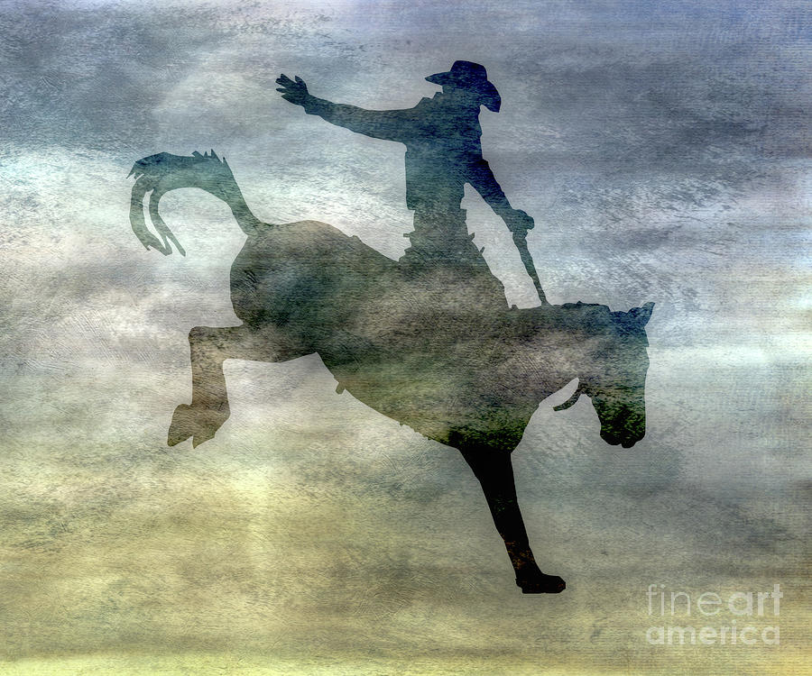 Shadow Digital Art - Shadows Of The Rodeo One by Randy Steele