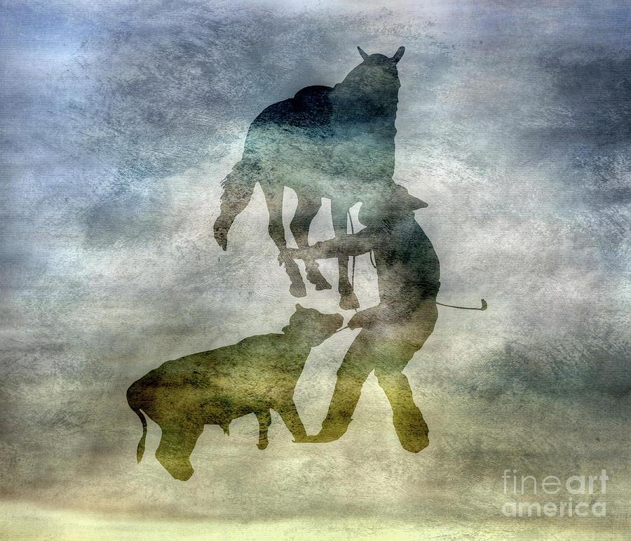 Shadow Digital Art - Shadows Of The Rodeo Three by Randy Steele