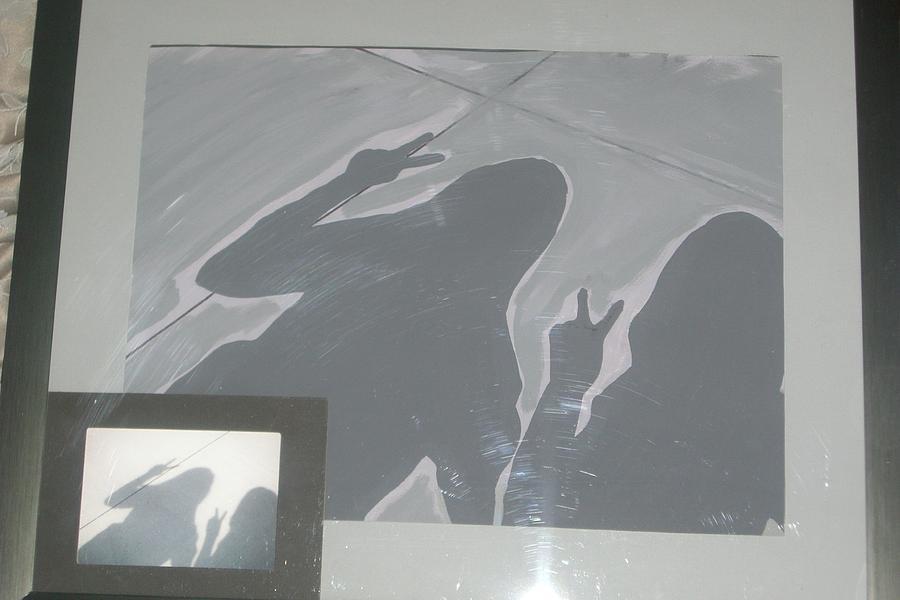 Portrait Painting - Shadows On The Walk by Dawn Johnson-Gennaro