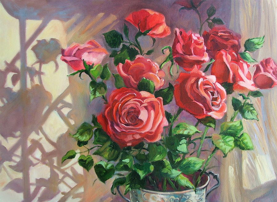 Oil Painting Painting - Shadows On The Wall by Dianna Willman