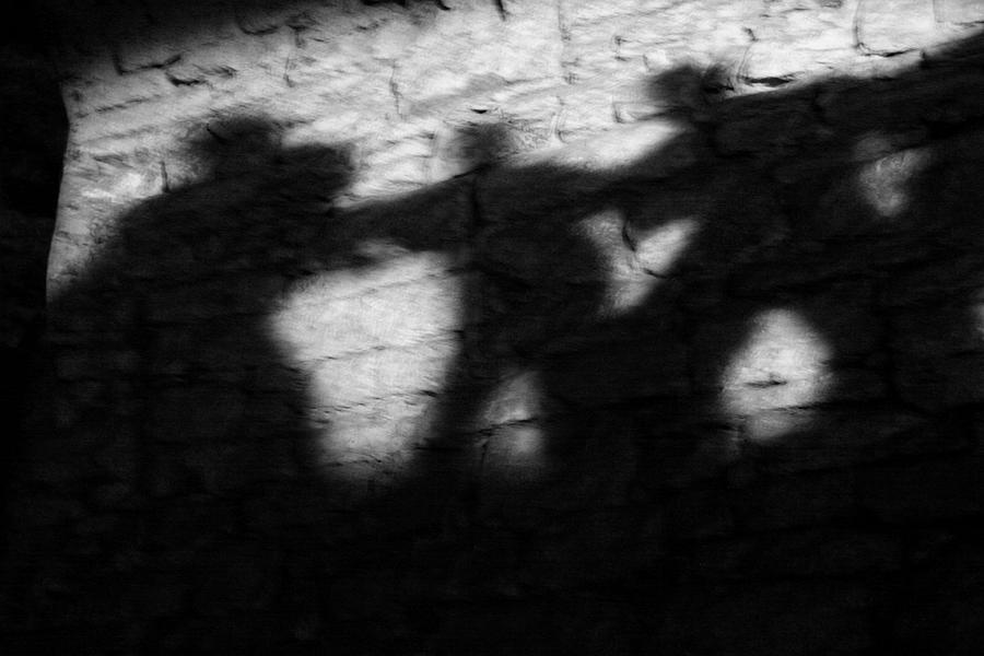 Wall Photograph - Shadows On The Wall Of Edinburgh Castle  by Christine Till