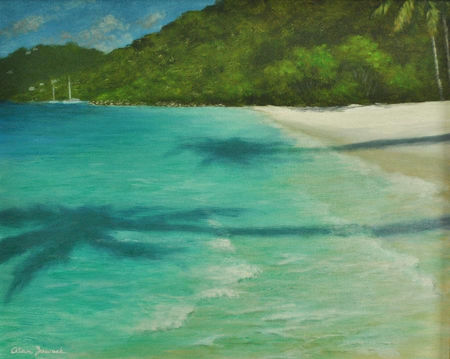 Shadows Over Magens Bay by Alan Zawacki by Alan Zawacki