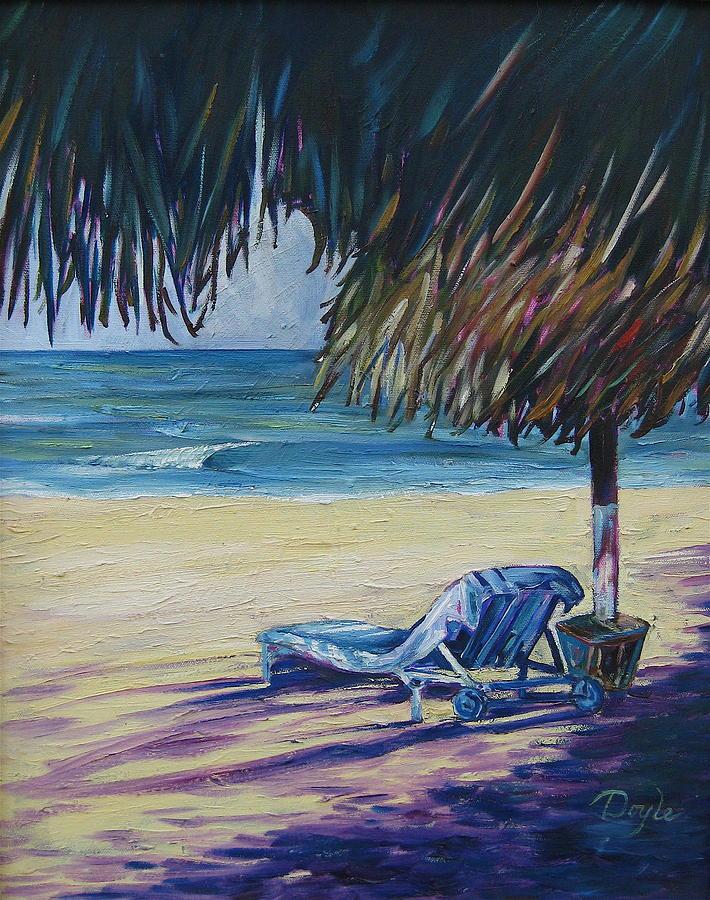 Beach Painting - Shady Beach by Karen Doyle