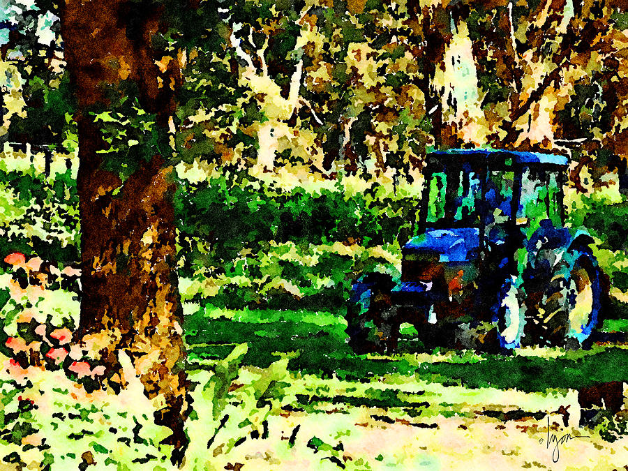 Shady Tractor by Angela Treat Lyon