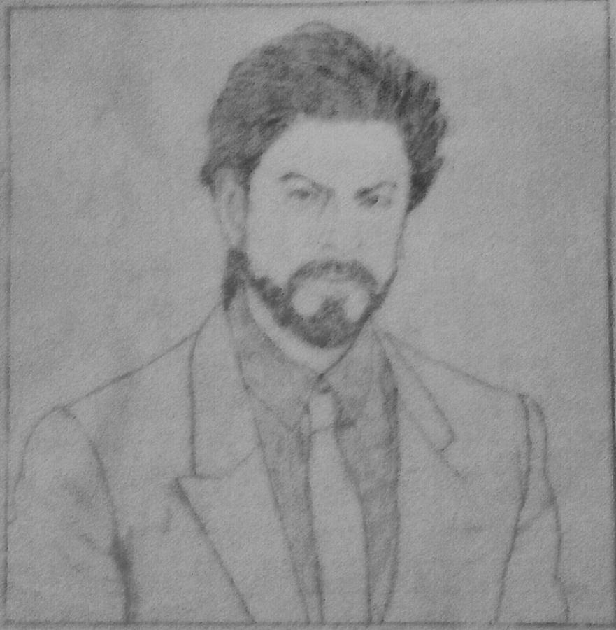 Shahrukh khan drawing by amarkrishna saha